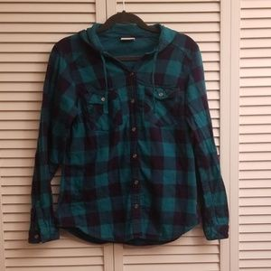 Columbia Hooded Flannel Top